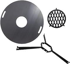 A. Weyck Tools Komplettset Feuerplatte 100cm  Abstandshalter  Grilleinsatz Raute BBQ Grill Plancha #201
