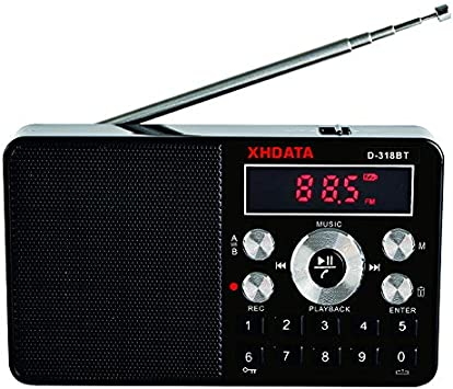 XHDATA D-318BT A B Repeat Stereo Bluetooth Digital Recorder Portable FM Radio