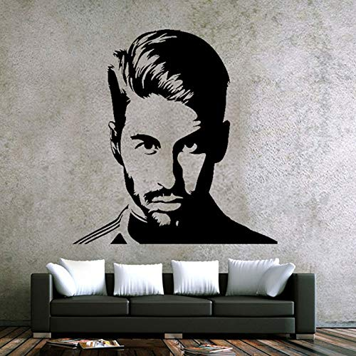 zqyjhkou Berühmte fußballspieler Sergio Art Kreative Wandaufkleber Dekoration wandbild Zimmer 101,5x106,75 cm
