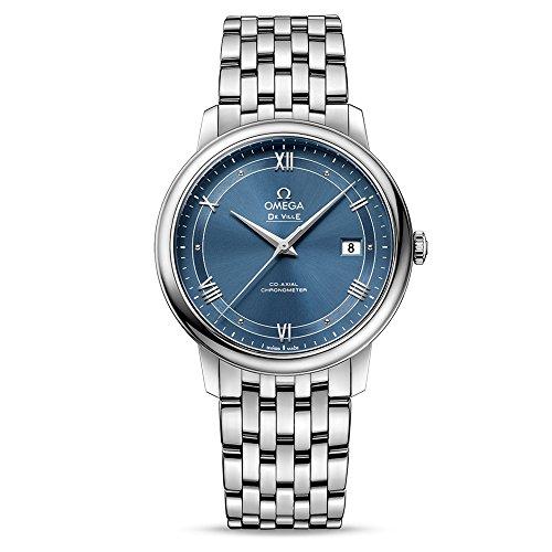Omega De Ville Prestige - Reloj automático para hombre con esfera azul 424.10.40.20.03.002