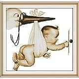Punto de Cruz Kit Flying Decoración Casera del Bebé Impreso De Punto De Cruz Puntada En Cruz DIY Hecho A Mano De La Costura De Punto De Cruz Punto De Cruz Set Conjunto De Bebé