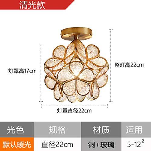 Plafondlamp, plafondlamp, plafondlamp, van kristalglas, Nordic kristal, luxueus, modern, koperkleurig