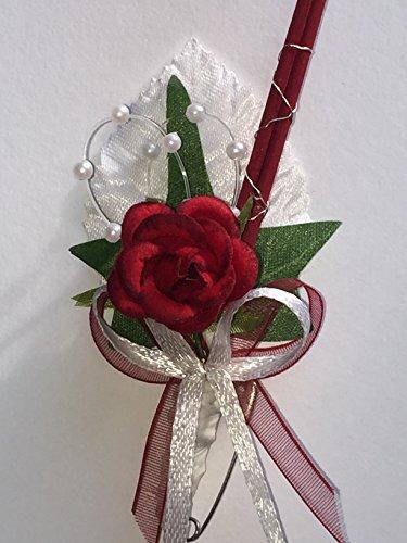 10 x Hochzeitsanstecker Gästeanstecker Anstecker Hochzeit AS0046 bordeaux