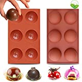 Hot Chocolate Bomb Mold Silicone 2.5 inch Chocolate Sphere Mold Chocolate Ball Molds Hot Chocolate...