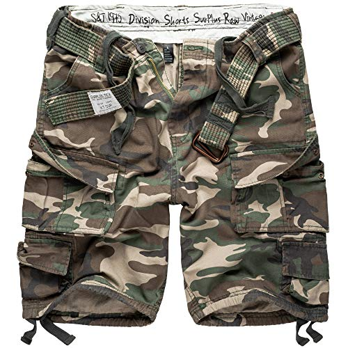 Surplus Division Herren Cargo Shorts, woodland, L