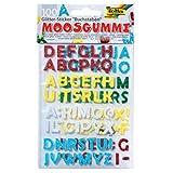 folia 23796 Moosgummi Glitter-Sticker, Buchstaben