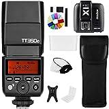 Godox TT350F 2.4G Wireless HSS TTL GN36 Fotocamera Strobe Flash Light Speedlite con X1T-F Trigger Kit trasmettitore compatibile con Fuji X-Pro2/X-T20/X-T1/X-T2 (TT350F+X1T-F)