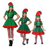 Da donna Natale costume Fancy Dress, tra cui: abito, cappello, calze a righe e cinghia da polso. Ideale per eventi interno, ideale per feste e party. Dimensioni: A 11dimensioni per voi scelgono se si sono un po 'grasso, vi consigliamo di scegliere u...