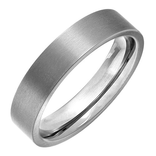 Theia Ring Titan Flach Ovale Form, Matter 4mm - Größe 59 (18.8)