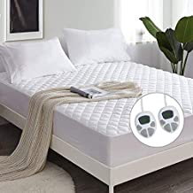 Giantex Heated Mattress Pad Queen Size, Electric Heated Mattress Coverw/ 10 Heat Setting, 8 Hours Auto Off, Timer Function, Dual Temperature Control, Premium Electric Bed Warmer Up to 15