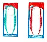 Zungenreiniger, für Mundzahnpflege, hochwertig, Kunststoff, Grün/Rot, 2 Stück