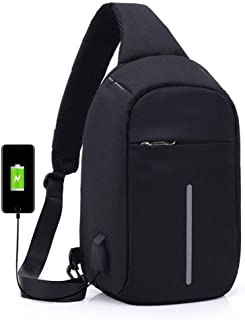 JDFHSD Backpack, Anti-Scratch Waterproof Crossboby Shoulder Pack for Outdoor Cycling, Running, Hiking, Climbing and Travel (Color : Black)