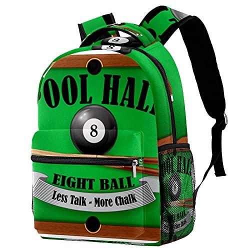 RuppertTextile Zaino piccolo per borsa da viaggio Duffel Fashion Sackpack per ragazze e ragazzi Piscina biliardo con cerniera sulla spalla