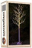 LED-Baum Birke 210 cm 180 LED warm-weiß mit Timer für