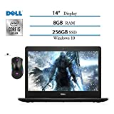 Dell Inspiron 14 inch Laptop 2020, Intel Core i5-1035G4 (Beat i7-7500) 10 Geneartion, 8GB RAM, 256GB SSD, HDMI, WiFi, Intel UHD Graphics, Win10 W/ Ghost Manta Gaming Mouse