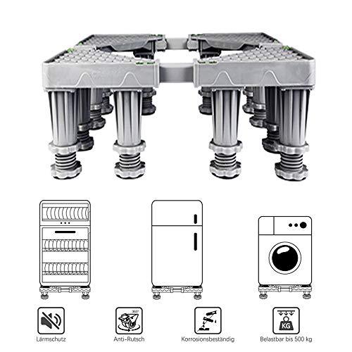 Le Support Mobile de bâti de Support de Tambour de réfrigérateur de Support de Tambour de Support Peut Ajuster la Base des appareils électroménagers, soutenant 500kg