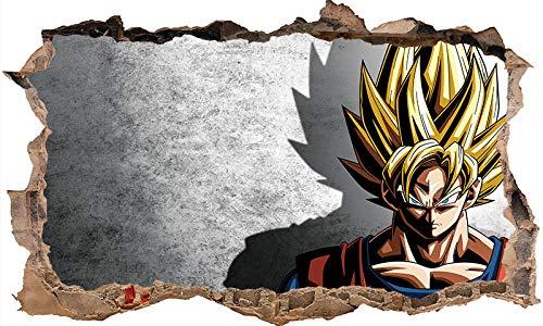 3D Etiqueta De La Pared Dragon Ball Son Goku Tatuajes De Pared Vinyl Comics Anime Japonés Decoración del Hogar Arte Pegatinas Extraíbles-80 * 120CM-A_80*120CM