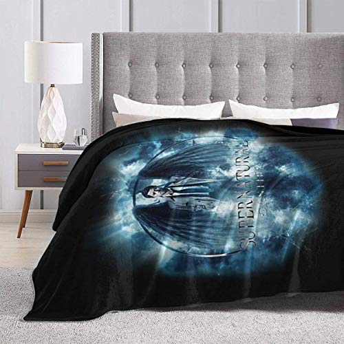 maichengxuan Blankets and Throws, Supernatural Castiel Storm Ultra-Soft Micro Fleece Blanket 50'' X40