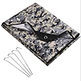 LYN Heavy Duty Emergency Blanket-Survival Blanket Waterproof Insulated Thermal Tear Resistant Tarp,Camouflage Temporary Shelter,Photo Booth,Special Event Photography