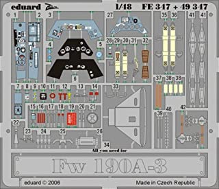 Eduard 1:48 Fw-190 A-3 Color PE Detail Set for Hasegawa Kit #49347