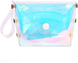 Holographic Purse Clear Transparent Coin Purse PVC Key Coin Cute Wallet for Womens