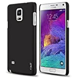 J&D Case Compatible for Galaxy Note 4 Case, [Ultra Slim] [Lightweight] Premium Matte Protective Hard Case for Samsung Galaxy Note 4 Case (Slim Black)