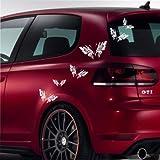 malango Autoaufkleber Schmetterlinge Aufkleber Auto Autoaufkleber Styling Design Tuning Szene Butterfly Siehe Beschreibung beige beige Siehe Beschreibung