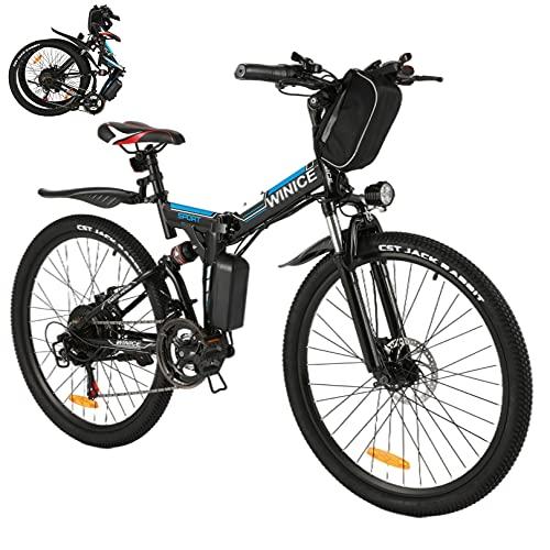 Vivi 26 Zoll Elektrofahrrad Klapprad, 350W Ebike Mountainbike, E-Bike für Damen Herren mit 36V 8Ah Abnehmbarer Lithium Akku, Shimano 21-Gang Elektrisches Fahrrad, 32km/h und 50km Reichweite