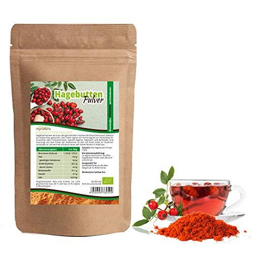 Mynatura Hagebuttenpulver - Naturrein - Glutenfrei - Zertifizierte Bio Qualität (DE-ÖKO-044) - Rohkostqualität - Vegan - gemahlt (1000g) ((1x1000g))