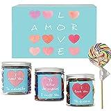 SMARTY BOX Caja Regalo Caramelos y Gominolas San Valentín, Cumpleaños Pareja, Enamorados, Cesta Golosinas Dulces Chuches sin Gluten, Fabricado en España