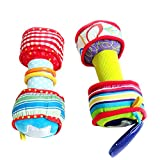 JklausTap Dumbbells, Multifunktionale Babyhantel, Kinderspielzeug, 1 Paar Baby Rainbow Bunte weiche...