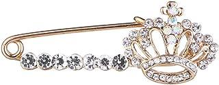 HSQYJ - Spilla a forma di corona con cristalli lucidi, con strass e strass, stile principessa reale, per abiti da donna e ...