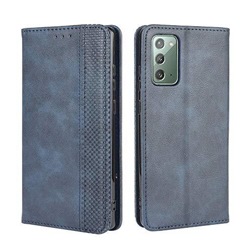 Lederhülle für Samsung Galaxy S20 FE 5G Hülle, Flip Hülle Schutzhülle Handy mit Kartenfach Stand & Magnet Funktion als Brieftasche, Tasche Cover Etui Handyhülle für Samsung Galaxy S20 FE 5G, Blau