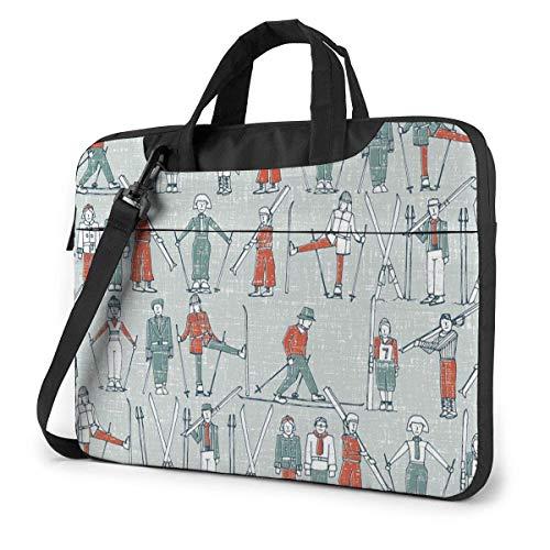 XCNGG Bolso de hombro Computer Bag Laptop Bag, Blue Skiing Briefcase Protective Bag 13 inch
