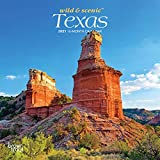 Texas Wild & Scenic 2021 7 x 7 Inch Monthly Mini Wall Calendar, USA United States of America Southwest State Nature