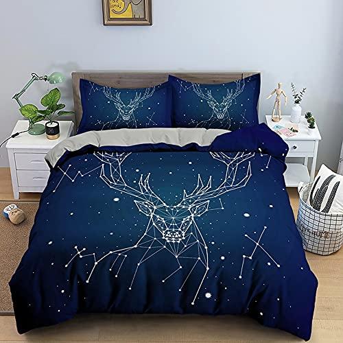 Juego de Funda nórdica con Estampado de Galaxia Espacial, Fundas de edredón Circular de horóscopo, Juegos de Cama con símbolos del Zodiaco, 135 * 200 cm B