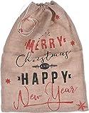 Saco para regalos de Navidad de yute, 60 x 90 cm, accesorios para regalos de Navidad