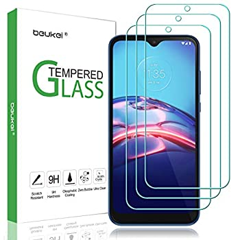3 Pack  Beukei for Compatible Motorola Moto E  2020  Screen Protector Tempered Glass Anti Scratch Bubble Free
