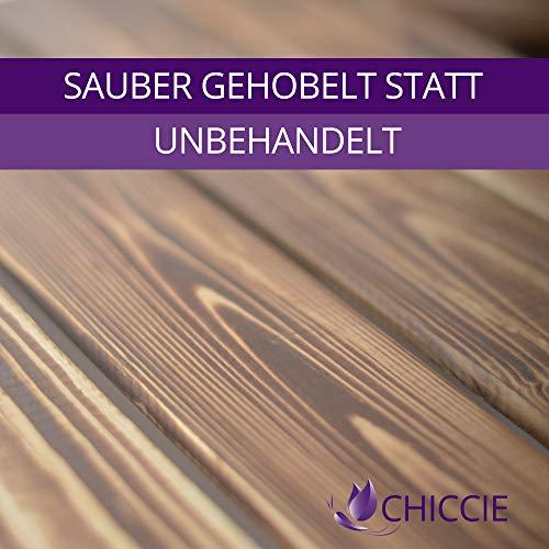 CHICCIE 3 Set Holzkiste Grete Weiß Geflammt - 2X Kurzes Regal Obstkiste Dekokiste Weinkiste Ablage 50x40x30cm Gehobelt - 5