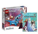Collectix Lego Frozen Set – Disney Frozen Salamandra Bruni (43186) + Frozen 2 mágicas Diversión de pintura (tapa blanda), set de regalo a partir de 5 años
