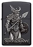 ZIPPO Mechero Recargable Militar Odin, Color Negro Mate, en Caja de Regalo
