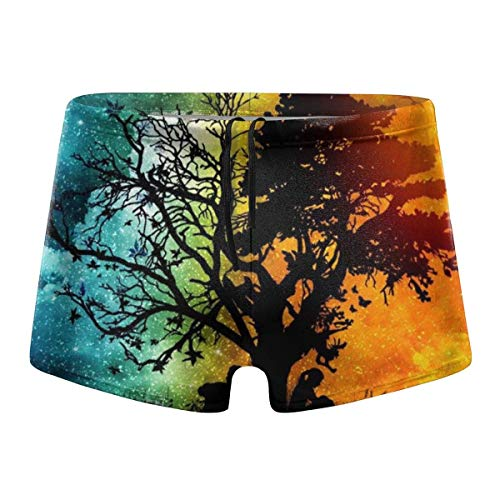 Cute Teddy Unicorn Mens Boxer Briefs Underwear for Men S-XXL Polyester Spandex Quick Dry
