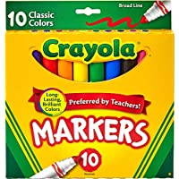 10 Count Crayola Broad Line Markers