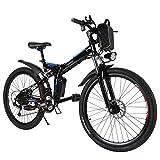 Teamyy Bicicleta Eléctrica Plegable de Montaña con la Batería de Iones de Litio 36V Ruedas...