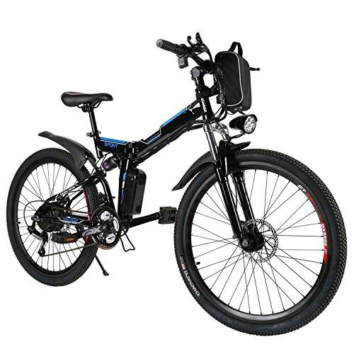 Teamyy Bicicleta Eléctrica Plegable de Montaña