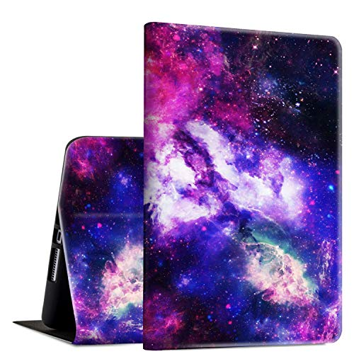 iPad 9.7 2018/2017 Case,iPad Air 2/iPad Air Case, Rossy PU Leather Folio Smart Cover Shock Case with Adjustable Stand & Auto Wake/Sleep Feature for Apple iPad 6th/5th Gen,Galaxy Space Sky