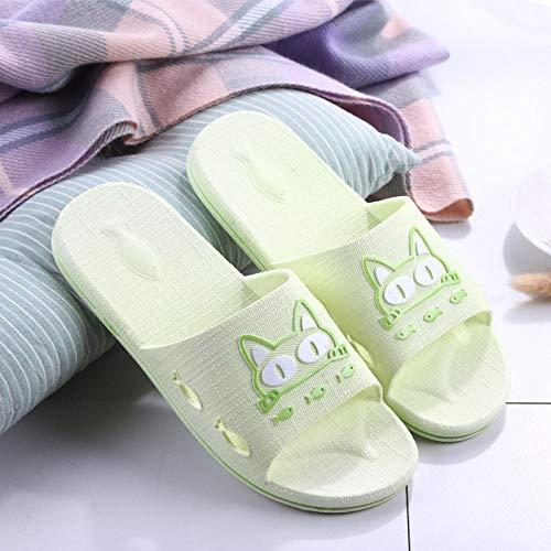 Nwarmsouth Zapatillas de Masaje Sandalias, Sandalias de Masaje de baño, Zapatillas de baño Antideslizantes-Verde Claro_38-39, Zapatos de Playa y Piscina para Adultos Unisex
