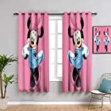 Mickey Minnie Mouse - Forro de cortina opaca para niñas, 160 cm de largo, diseño de ratón Mick-ey Mou-se para mantener un buen sueño de 42 x 63 pulgadas