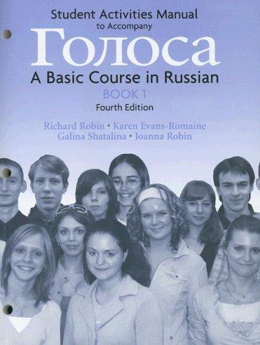 Golosa: Book 1: Student Activities Manual
