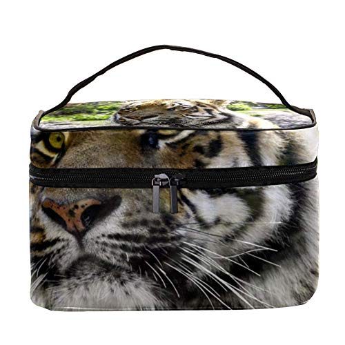 TIZORAX Ferocious Tiger make-up tas reizen, toiletartikel, grote make-up organizer box